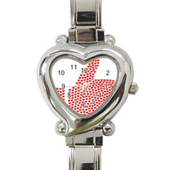 Heart Love Valentines Day Red Sign Heart Italian Charm Watch by Alisyart