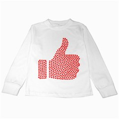 Heart Love Valentines Day Red Sign Kids Long Sleeve T Shirts