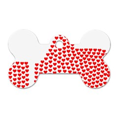 Heart Love Valentines Day Red Sign Dog Tag Bone (two Sides) by Alisyart