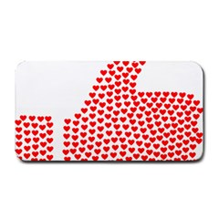 Heart Love Valentines Day Red Sign Medium Bar Mats by Alisyart