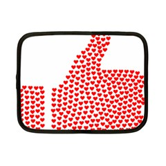 Heart Love Valentines Day Red Sign Netbook Case (small)  by Alisyart