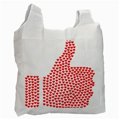 Heart Love Valentines Day Red Sign Recycle Bag (one Side) by Alisyart
