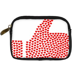 Heart Love Valentines Day Red Sign Digital Camera Cases by Alisyart