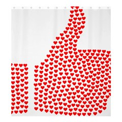 Heart Love Valentines Day Red Sign Shower Curtain 66  X 72  (large)  by Alisyart