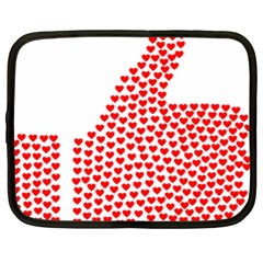 Heart Love Valentines Day Red Sign Netbook Case (xl)  by Alisyart