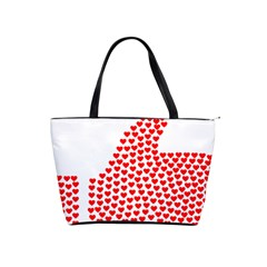 Heart Love Valentines Day Red Sign Shoulder Handbags by Alisyart