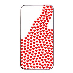 Heart Love Valentines Day Red Sign Apple Iphone 4/4s Seamless Case (black) by Alisyart