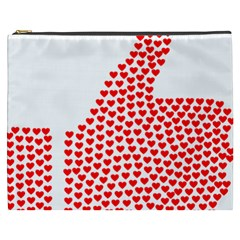 Heart Love Valentines Day Red Sign Cosmetic Bag (xxxl)