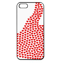 Heart Love Valentines Day Red Sign Apple Iphone 5 Seamless Case (black)