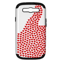 Heart Love Valentines Day Red Sign Samsung Galaxy S Iii Hardshell Case (pc+silicone)