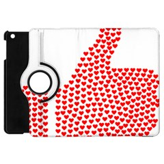 Heart Love Valentines Day Red Sign Apple Ipad Mini Flip 360 Case by Alisyart