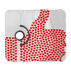 Heart Love Valentines Day Red Sign Galaxy S3 (flip/folio) by Alisyart