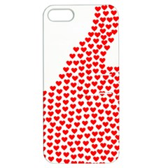 Heart Love Valentines Day Red Sign Apple Iphone 5 Hardshell Case With Stand by Alisyart