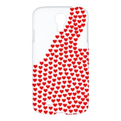 Heart Love Valentines Day Red Sign Samsung Galaxy S4 I9500/i9505 Hardshell Case by Alisyart