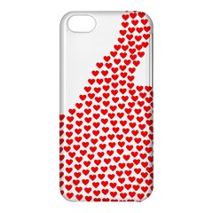 Heart Love Valentines Day Red Sign Apple Iphone 5c Hardshell Case by Alisyart