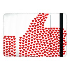 Heart Love Valentines Day Red Sign Samsung Galaxy Tab Pro 10 1  Flip Case by Alisyart