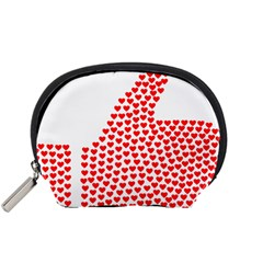 Heart Love Valentines Day Red Sign Accessory Pouches (small)