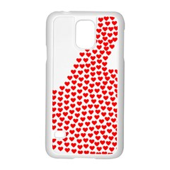 Heart Love Valentines Day Red Sign Samsung Galaxy S5 Case (white) by Alisyart