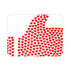 Heart Love Valentines Day Red Sign Double Sided Flano Blanket (mini)  by Alisyart