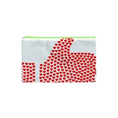 Heart Love Valentines Day Red Sign Cosmetic Bag (xs) by Alisyart