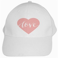 Love Valentines Heart Pink White Cap by Alisyart