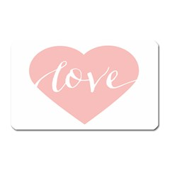 Love Valentines Heart Pink Magnet (rectangular) by Alisyart