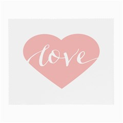 Love Valentines Heart Pink Small Glasses Cloth (2 Side)