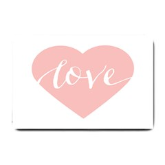 Love Valentines Heart Pink Small Doormat  by Alisyart