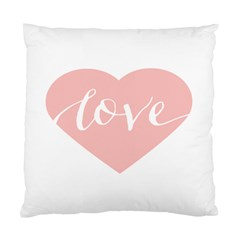 Love Valentines Heart Pink Standard Cushion Case (two Sides) by Alisyart