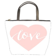 Love Valentines Heart Pink Bucket Bags by Alisyart
