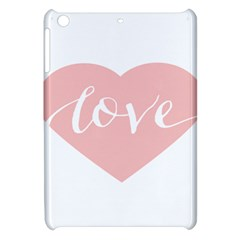 Love Valentines Heart Pink Apple Ipad Mini Hardshell Case by Alisyart