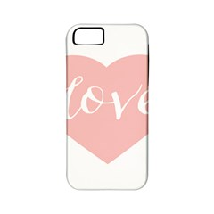 Love Valentines Heart Pink Apple Iphone 5 Classic Hardshell Case (pc+silicone)