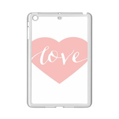 Love Valentines Heart Pink Ipad Mini 2 Enamel Coated Cases