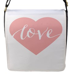 Love Valentines Heart Pink Flap Messenger Bag (s) by Alisyart