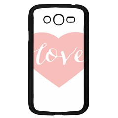Love Valentines Heart Pink Samsung Galaxy Grand Duos I9082 Case (black)