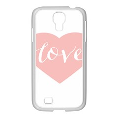 Love Valentines Heart Pink Samsung Galaxy S4 I9500/ I9505 Case (white) by Alisyart