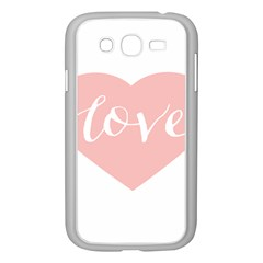 Love Valentines Heart Pink Samsung Galaxy Grand Duos I9082 Case (white)
