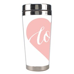 Love Valentines Heart Pink Stainless Steel Travel Tumblers
