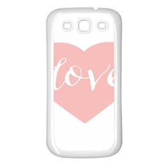 Love Valentines Heart Pink Samsung Galaxy S3 Back Case (white)