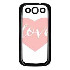 Love Valentines Heart Pink Samsung Galaxy S3 Back Case (black)