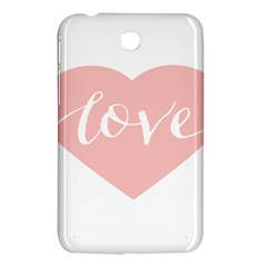 Love Valentines Heart Pink Samsung Galaxy Tab 3 (7 ) P3200 Hardshell Case