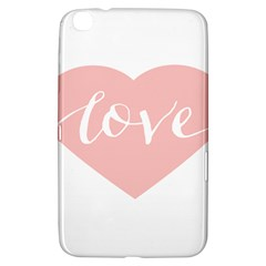 Love Valentines Heart Pink Samsung Galaxy Tab 3 (8 ) T3100 Hardshell Case