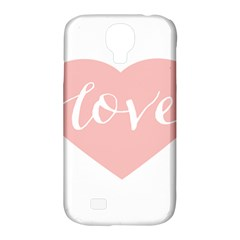 Love Valentines Heart Pink Samsung Galaxy S4 Classic Hardshell Case (pc+silicone)