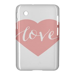 Love Valentines Heart Pink Samsung Galaxy Tab 2 (7 ) P3100 Hardshell Case