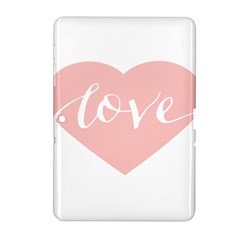 Love Valentines Heart Pink Samsung Galaxy Tab 2 (10 1 ) P5100 Hardshell Case