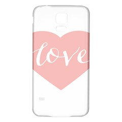 Love Valentines Heart Pink Samsung Galaxy S5 Back Case (white) by Alisyart
