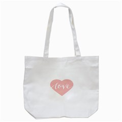 Love Valentines Heart Pink Tote Bag (white) by Alisyart