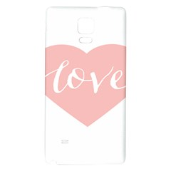 Love Valentines Heart Pink Galaxy Note 4 Back Case by Alisyart