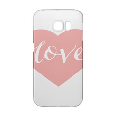 Love Valentines Heart Pink Galaxy S6 Edge by Alisyart