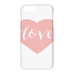 Love Valentines Heart Pink Apple Iphone 7 Plus Hardshell Case